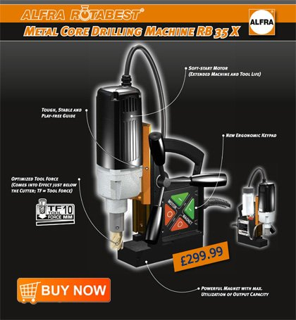 Introducing the Alfra RB35X Magnetic Drilling Machine ...