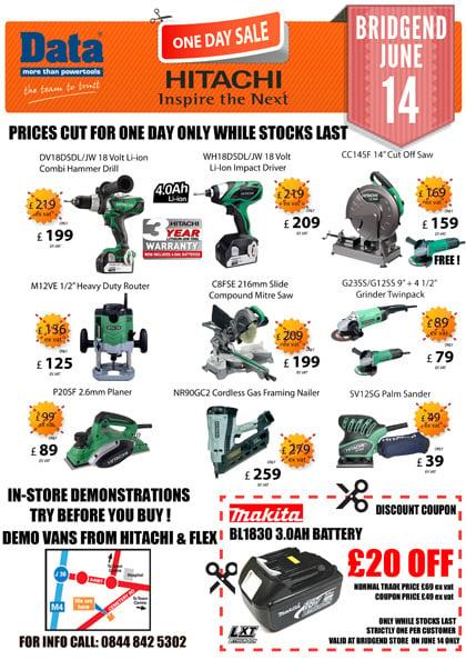 Hitachi One Tool Day Sale Bridgend