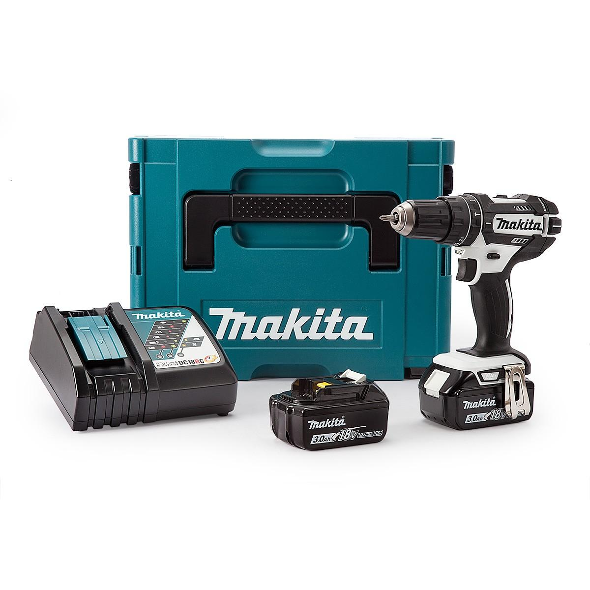 Makita DHP482RFWJ 18v Combi Drill LXT with 2x 3.0ah Batteries