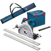Bosch GKT55GCE Plunge Saw with 2x Guide Rails,Connector and Bag