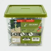 TIMco C2 Decking TX20 Countersunk Green Timber Screw