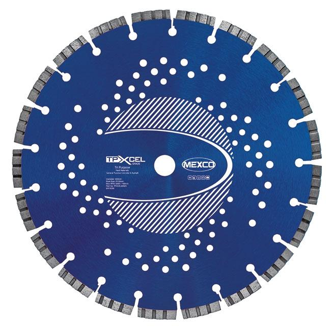 Mexco Tri-Purpose XCEL Grade Diamond Blades