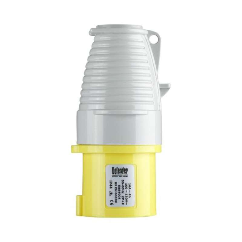 Defender 16 Amp Plug - Yellow - Display Packed 110V