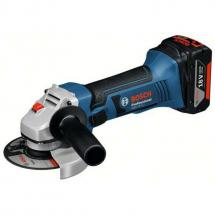 Bosch GWS18V-LI 18v Angle Grinder with 2x 4.0ah Batteries