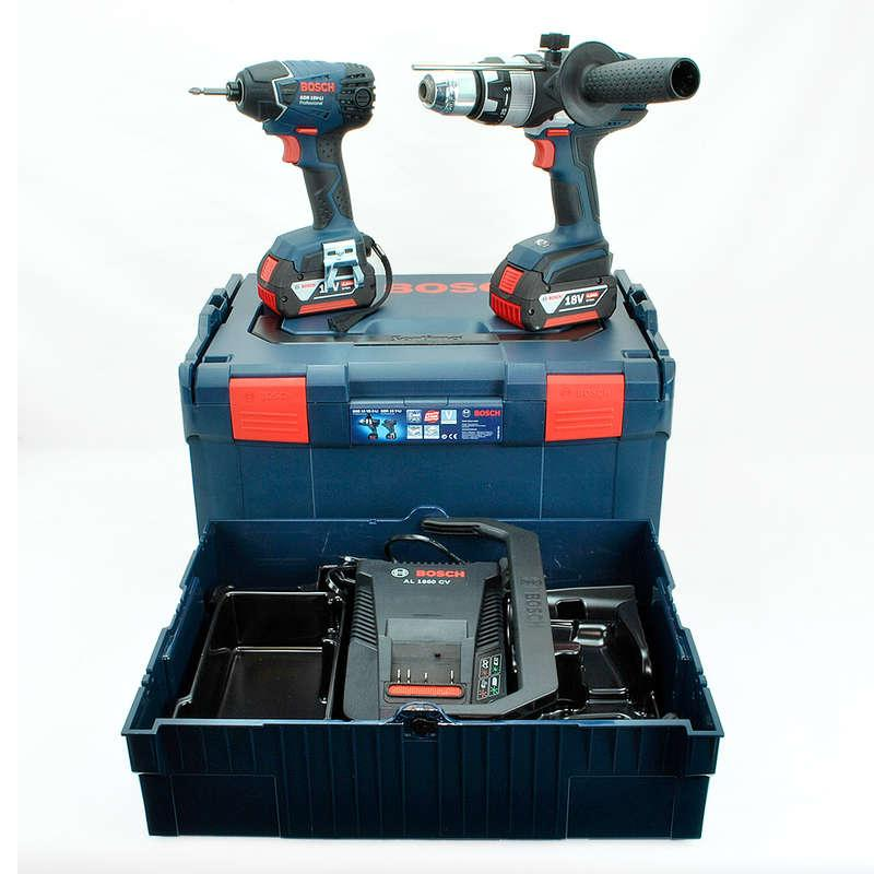 Bosch 18v Combi Drill & Impact Driver with 2 x 4.0 Ah Batteries