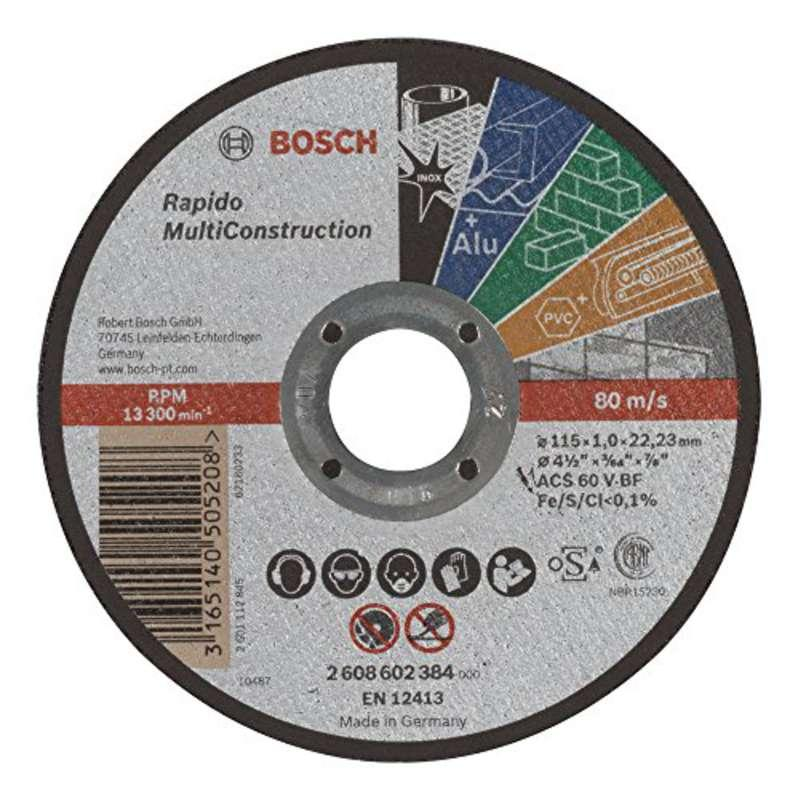 Bosch 2608602384 Rapido Multi-Construction Straight Cutting Disc