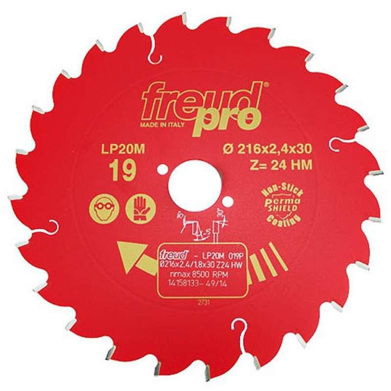 FREUD PRO LP20M 019 TCT Circular Saw Blade - 216mm x 30mm - 24T