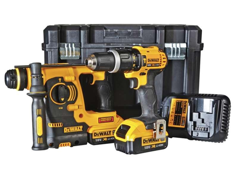 DeWALT DCK206M2T 18V XR 2 Piece Kit TSTAK 2 x 4.0ah Batteries
