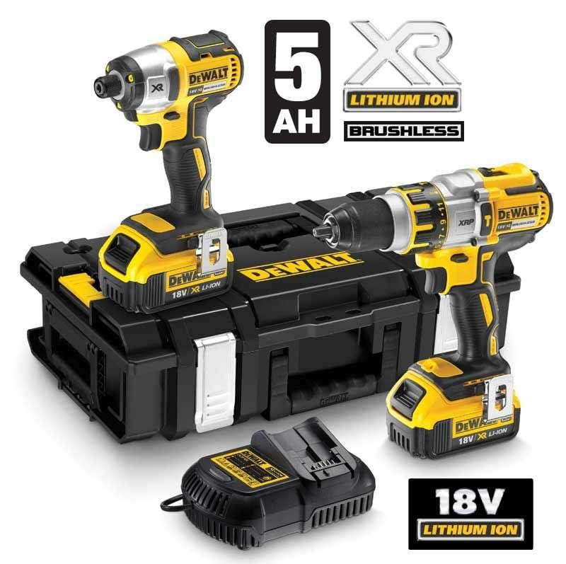 DeWALT DCK255P2 18V XR Brushless Twinpack with 2x 5ah Batts