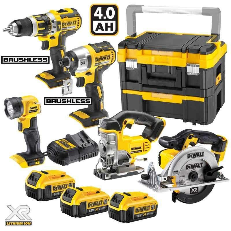 DeWALT DCK550M3T 18V XR 5 Piece Kit TSTAK With 3 x 4.0ah Batts