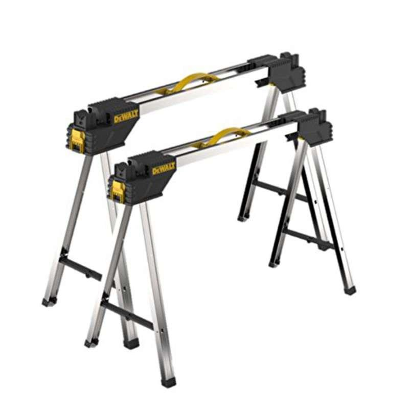 DeWalt DWST1-75676 Heavy Duty Metal Portable Saw Horse Work Support Stands
