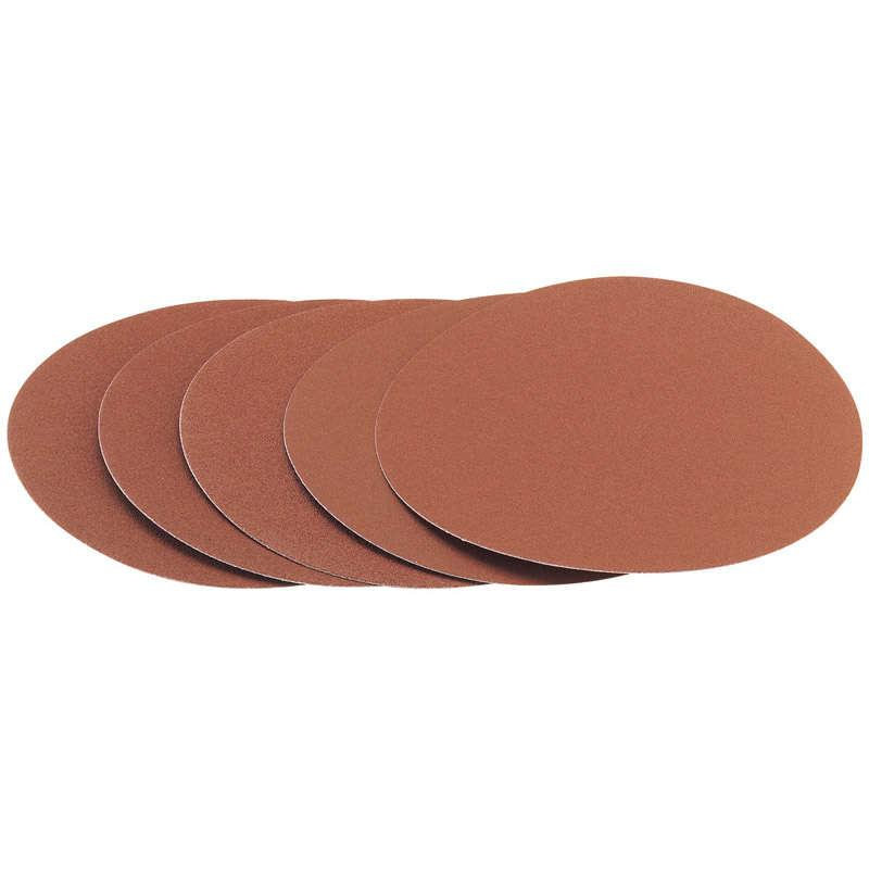 Draper 5x 200mm 80 Grit Hook and Eye Backed Aluminium Oxide Sanding Discs