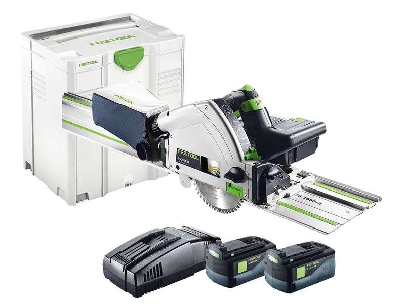 Festool Cordless Plunge Cut Saw TSC55 with Rail 2x5.2ah Batteries