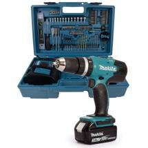 Makita DHP453FX12 18v Combi Drill LXT 3.0ah with Built In 101pc Bit Set