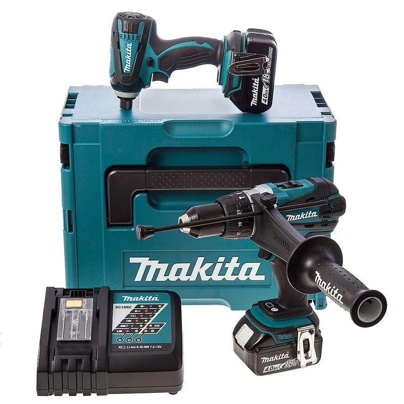 Makita DLX2005MJ 18 Volt 4ah Li-ion Combo Twin Pack