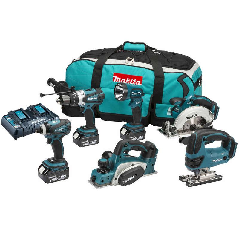 Makita DLX6012PM 18V LXT 6 Piece Combo Kit