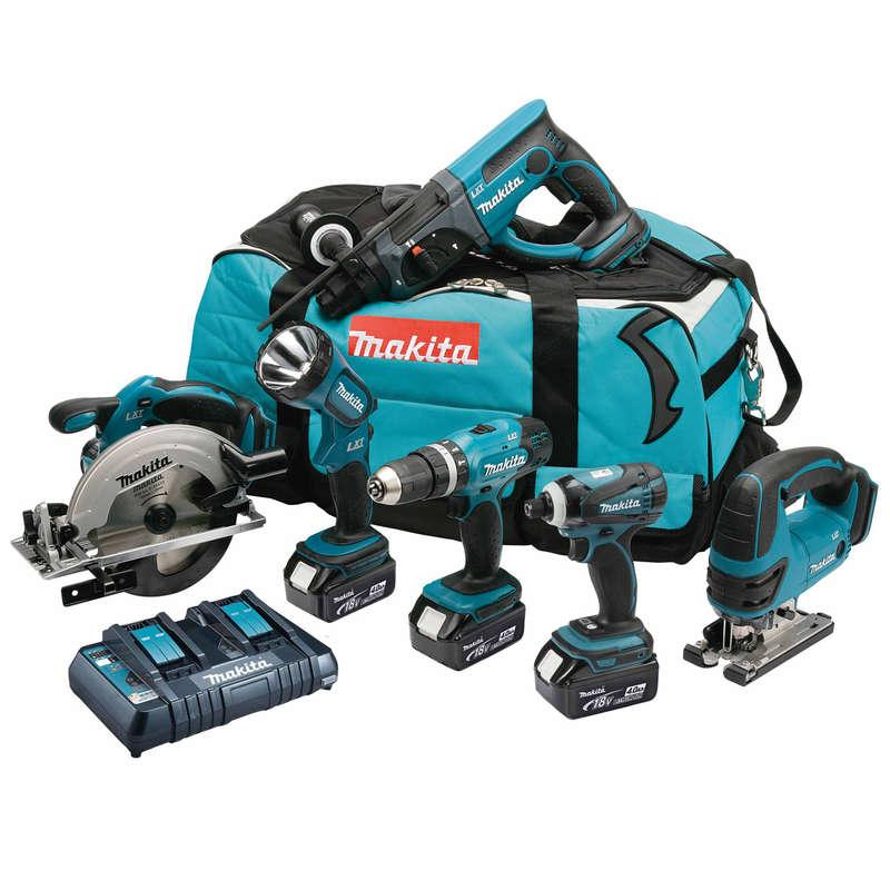 Makita DLX6017PM 18 Volt LXT 6 Piece Combo Kit