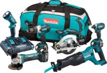 Makita DLX6072PT 18v 6 Piece Combo Kit LXT with X 5.0ah Batteries