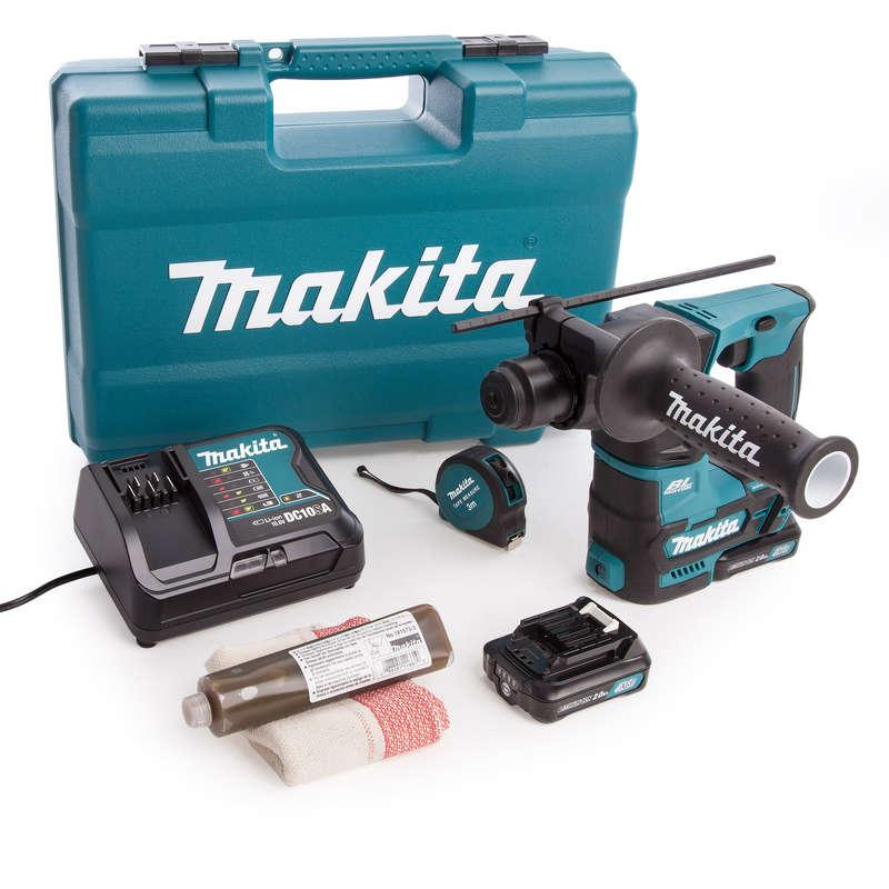 Makita HR166DSAE1 10.8v SDS Rotary Hammer with Accessory Set