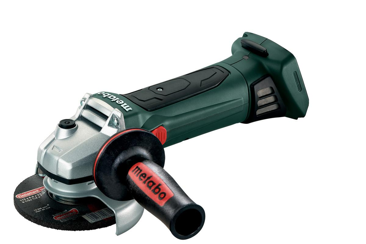 Metabo W18LTX 115mm 4.5inch Angle Grinder, Body Only + MetaLoc Case