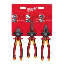 Milwaukee 4932464575 VDE 3pcs Plier Set