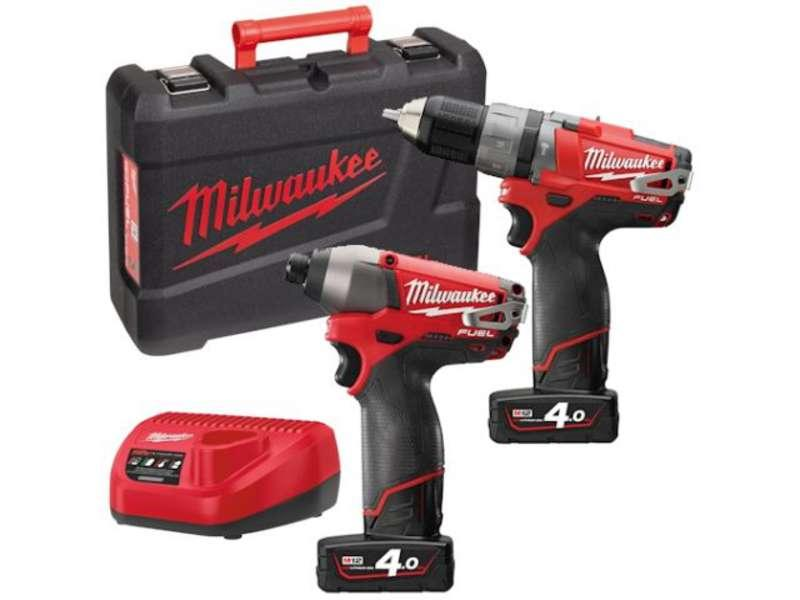 Milwaukee M12PP2A-402C 'FUEL' 12 volt Power Pack