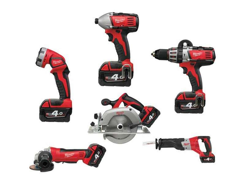 Milwaukee M18PP6C-402B 18 Volt 6pc Kit with 2 x 4.0Ah Batteries