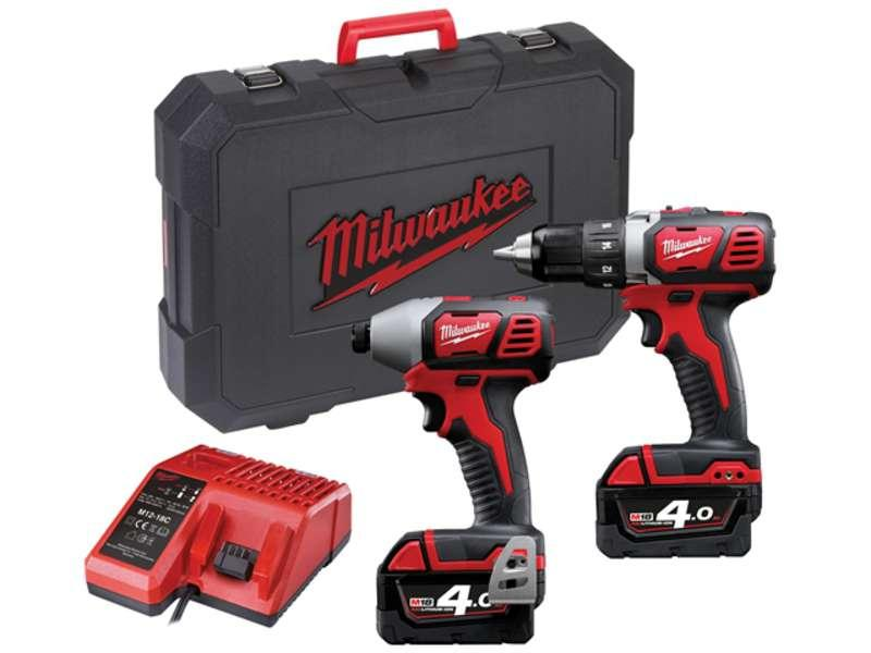 Milwaukee M18BPP2C-402C Cordless Twin Kit