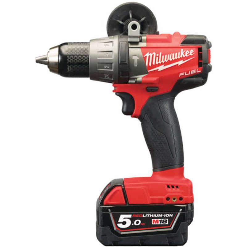 Milwaukee M18FPD-502X M18 Fuel Percusssion Drill 2 x 5.0ah Batts