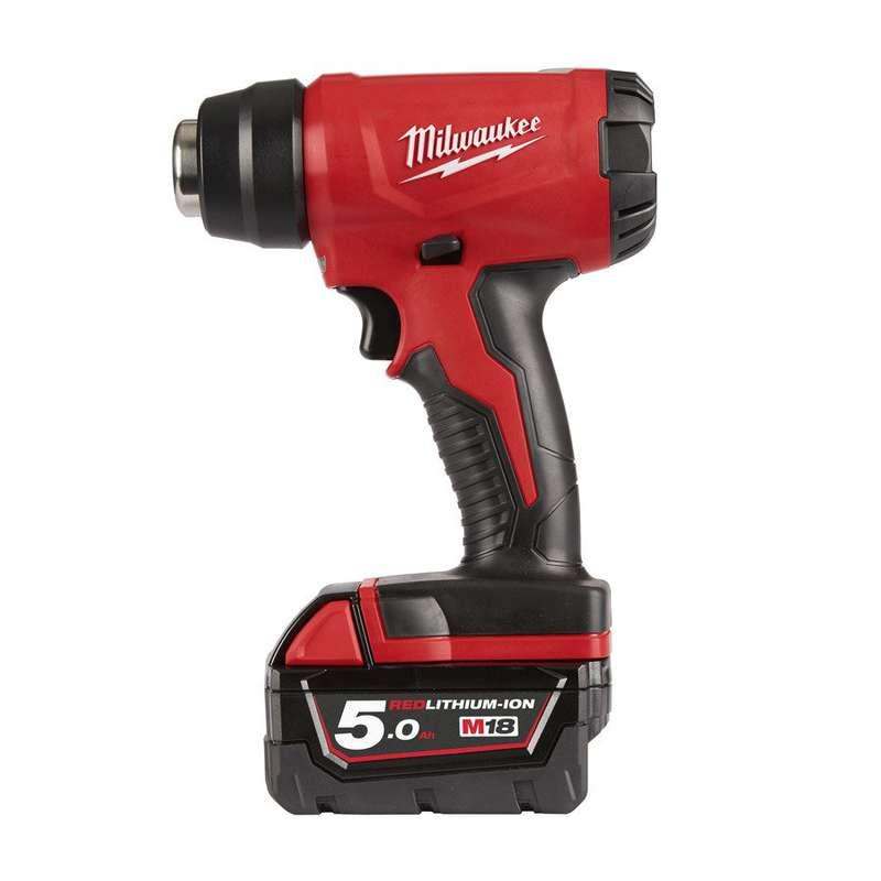 Milwaukee M18BHG-502C M18 Compact Heat Gun (2 X 5.0Ah Batteries)