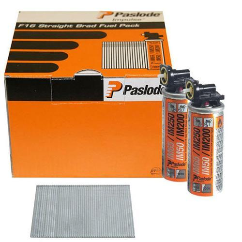 Paslode Brad Nail Fuel Pack F16 x 25mm Galv QTY 2,000