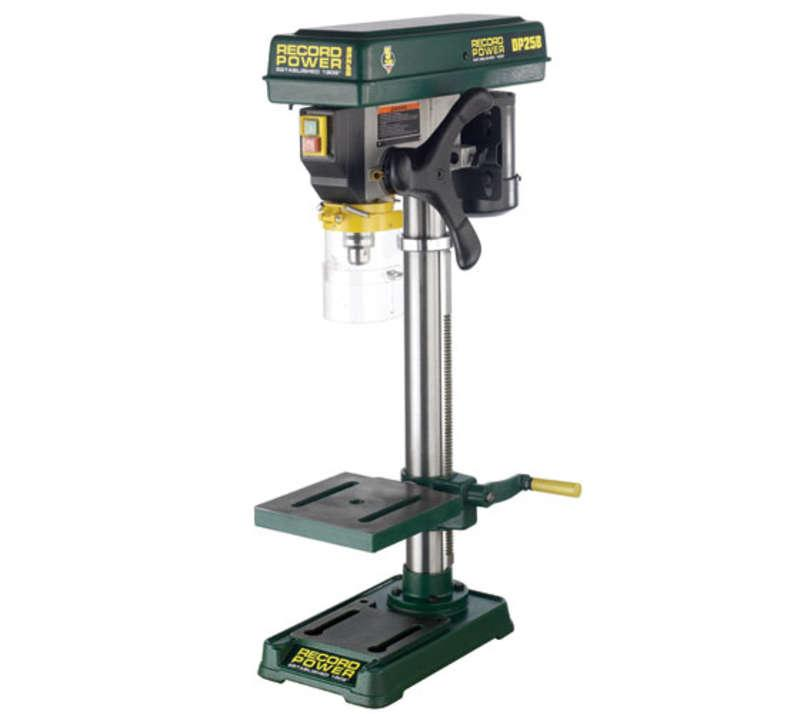 RECORD DP25B Bench Drill with 22inch Column and 1/2inch Chuck