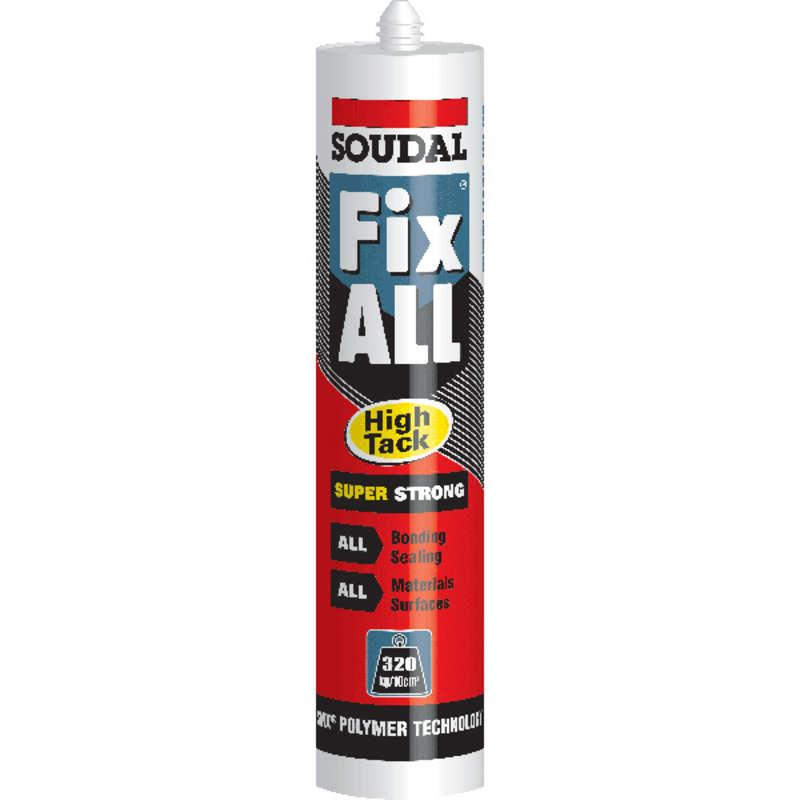 Soudal Fix All White High Tack Sealant Glue