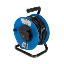 Silverline Cable Reel 240V Freestanding 13A 25m 2 Socket