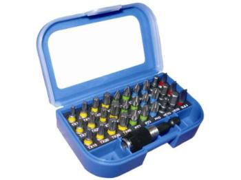 Faithfull Screwdriver Bit Set includes SL/ PH/ PZ/ Torx 31 Pieces