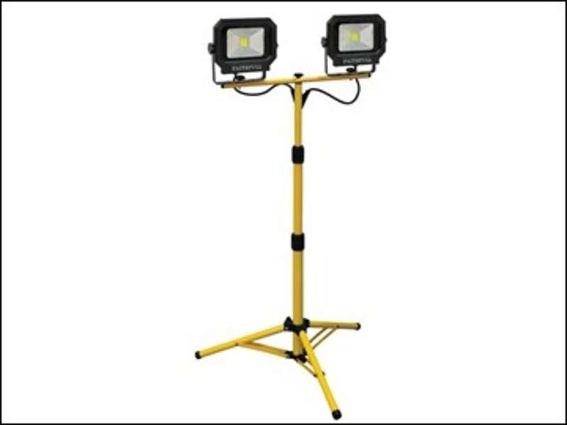 Faithfull Sitelight Twin Tripod 2800 Lumen 40 Watt 110 Volt