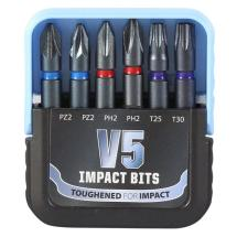 TIMco V5 Impact Bits Mixed Set 6pc
