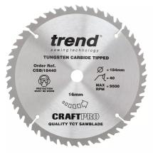 Trend CSB/18440B TCT Saw blade 184mm x 40 teeth x 20mm