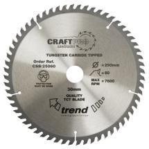 Trend CSB/25060 TCT Saw blade 250mm x 60 teeth x 30mm