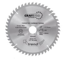 Trend CSB/CC21548 TCT saw blade crosscut 215mm x 48 teeth x 30mm