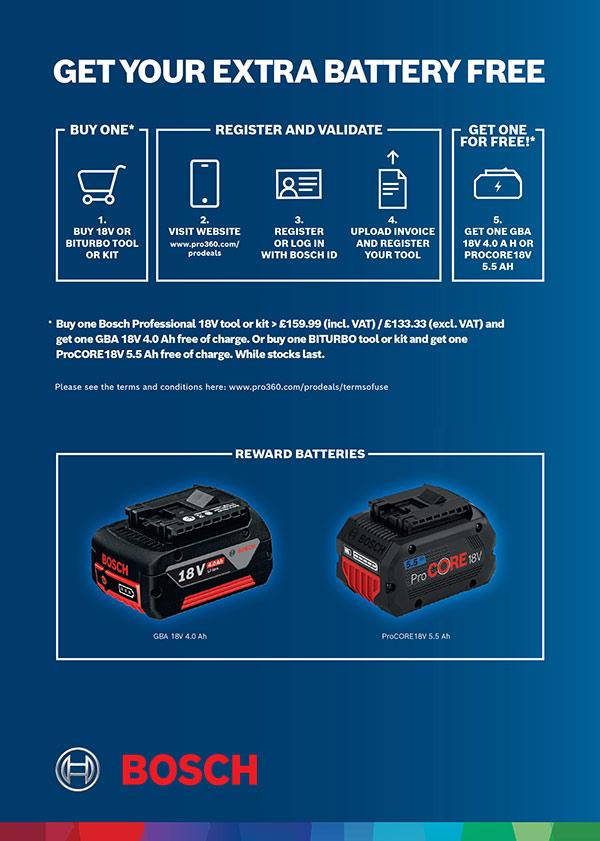 Bosch Extra Battery Deal