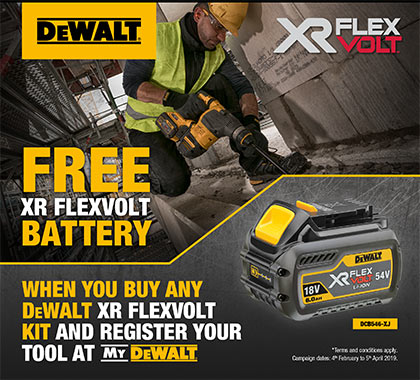 DeWALT Flexvolt Promotion