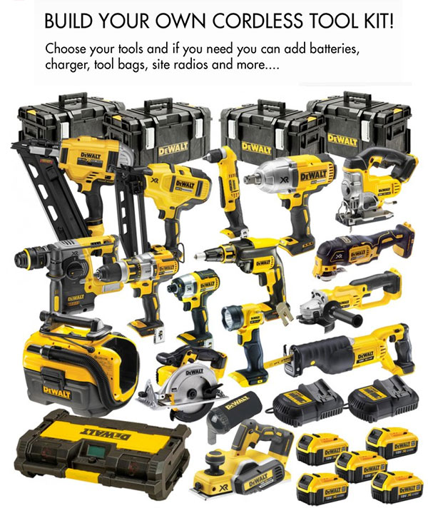Build Your Own Dewalt Power Tool Cordless Kit From Dewalt