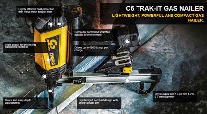 Dewalt C5 Trak It Gas Nailer Kit