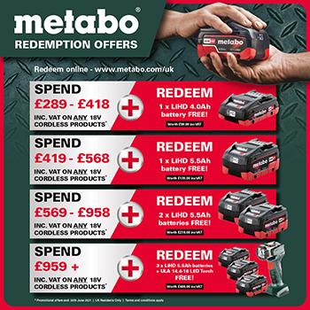 Metabo redemption offer