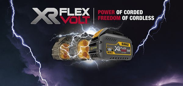 The World's first 18/54V convertible battery pack system.