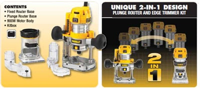 Dewalt D26204k Fixed And Plunge Base Router Kit From